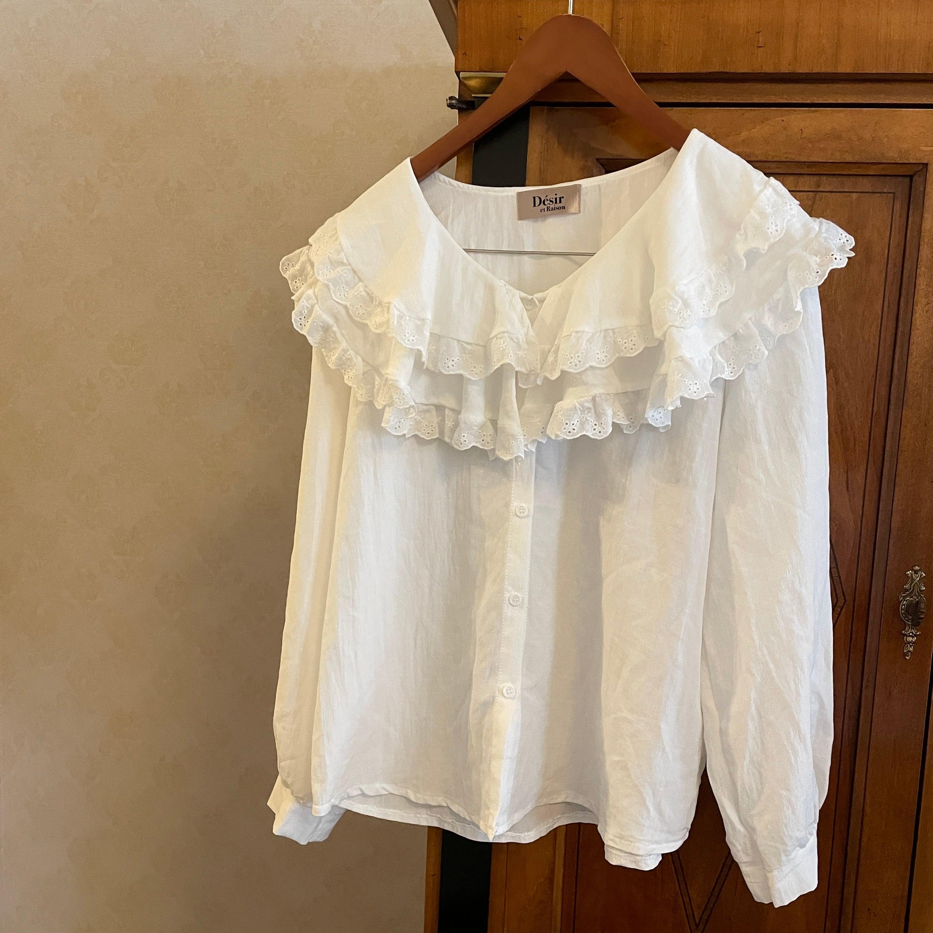 【予約】frill volume collar blouse