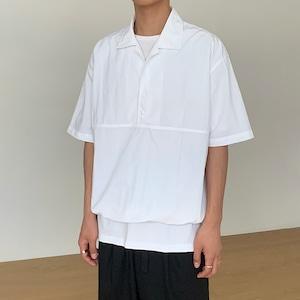 ドロストハーフボタンシャツ BL8942