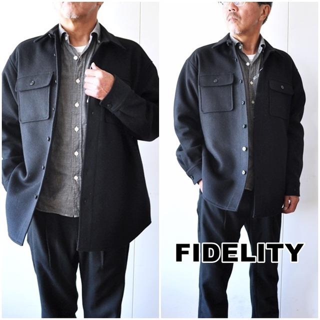 FIDELITY フィデリティ CPOシャツジャケット ウールメルトン FD202SM25021