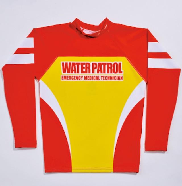 GUARD ガード メンズ水着 超撥水 ラッシュガード 長袖 【13赤×黄サーフパトロール】  競泳水着 146-770011-13