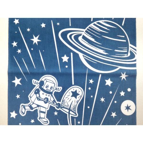 手ぬぐいハンカチ - 火星探査ロボ M-e1-088(青色宇宙) - 金星灯百貨店