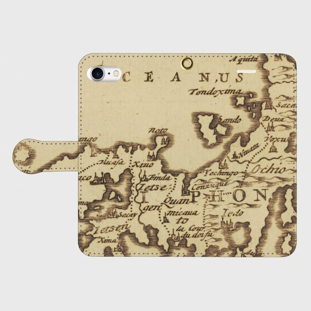 日本古地図(1600年代) / iPhoneスマホケース(手帳型ケース)