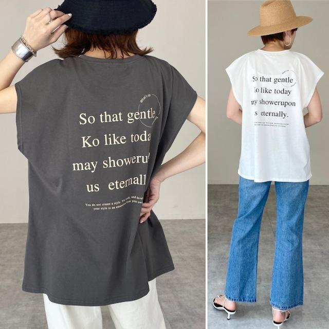 ◆即納◆ フレンチスリーブ バックロゴ Tシャツ OP-t144