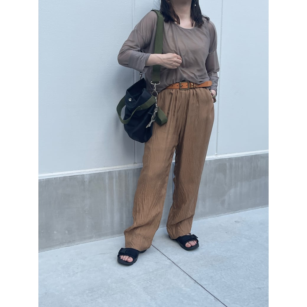 【hippiness】cupro easy pants (gold) /【ヒッピネス】キュプラ イージーパンツ(ゴールド)