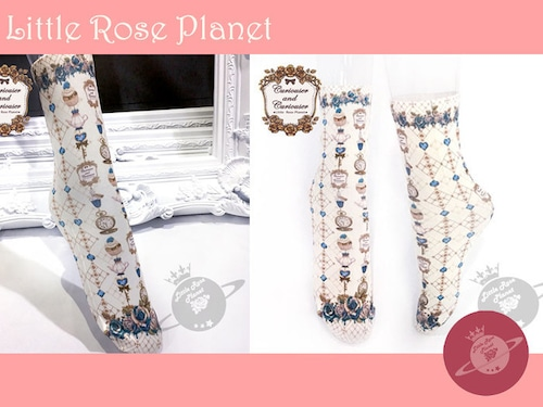 【Little Rose Planet】Curiouser and Curiouser Alice クルーソックス