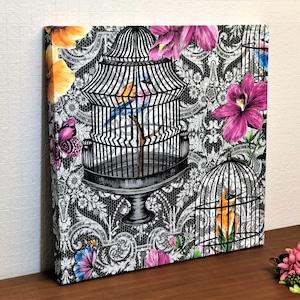 UK製輸入壁紙アートパネル|MATTHEWWILLAMSON|花と鳥かご|Made in Kuukan aga
