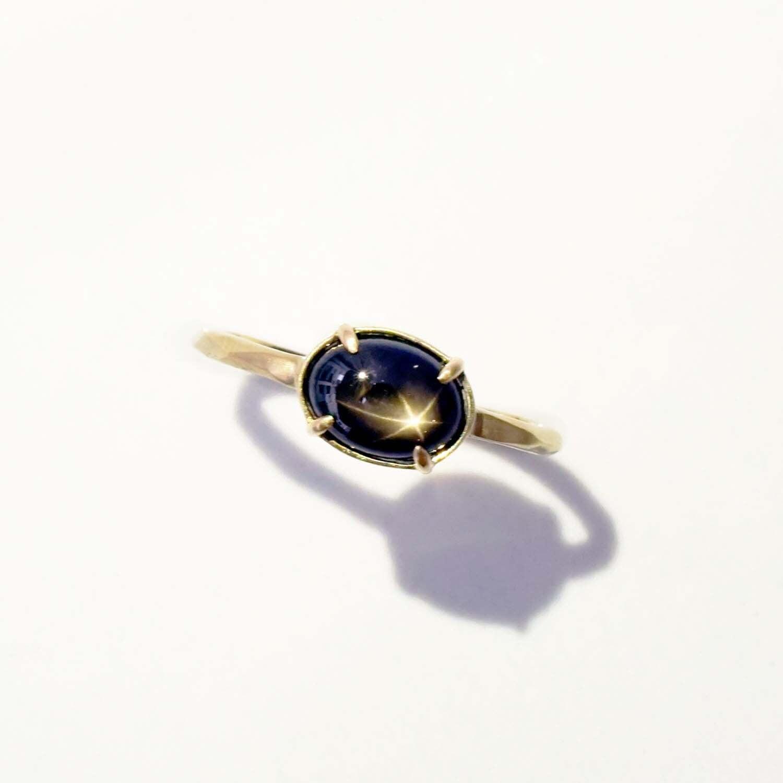 Black Star Sapphire Ring(R336-BSA)