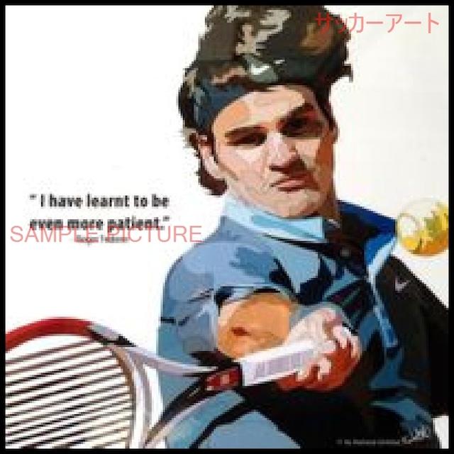 【51*51cm 特大サイズ】 スポーツグラフィックアートパネル ロジャー・フェデラー テニスプレイヤー 木製 壁掛け ポスター (004-005)