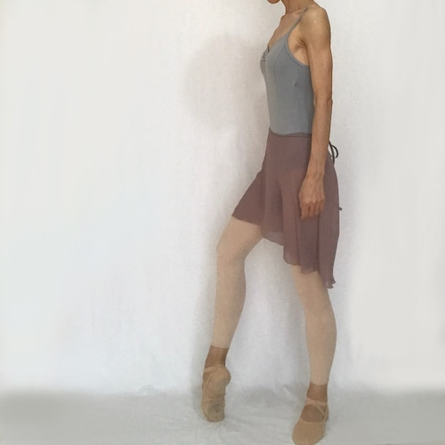 "◇""Tatiana"" Ballet Wrap Skirt - Azuki  [Sheer]( アズキ [シアー])"