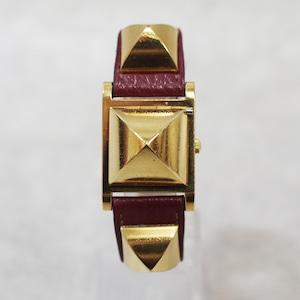 HERMES エルメス メドール クォーツ ホワイト文字盤 レディース 腕時計