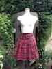 フリルスカート飾り付きショートパンツ 赤チェック