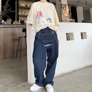 【ボトムス】カジュアル通学ワイルドストリート系ファッションパンツ50050555