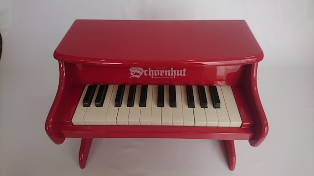 [中古]schoenhut トイピアノ 25鍵盤 赤
