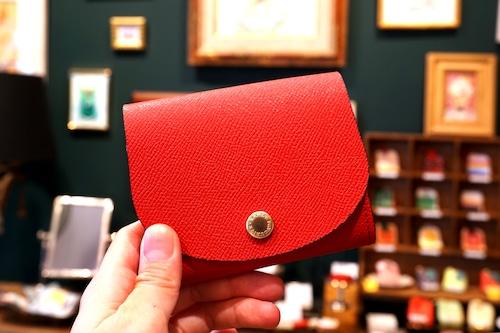 身軽にキメたい時のコンパクト財布|ぷっくり型・パーティーレザーレッド