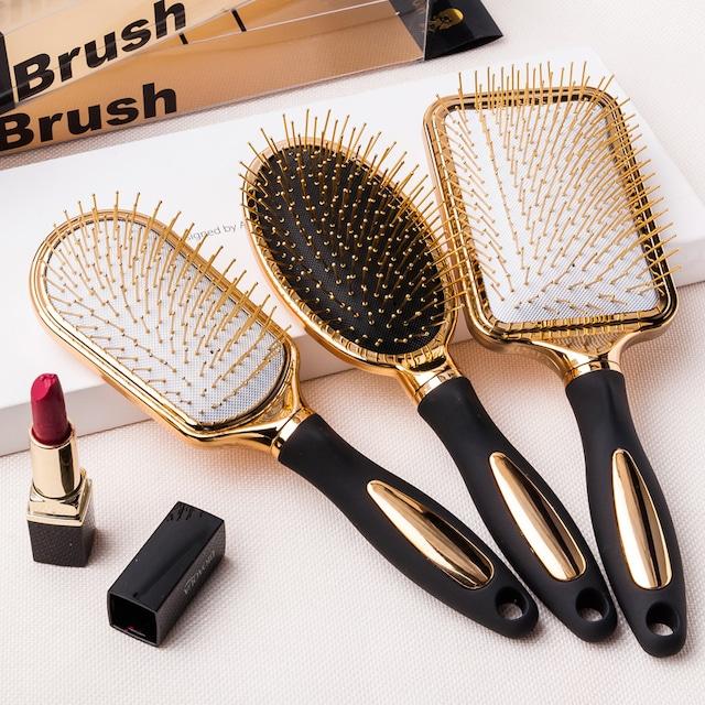 【再入荷】全3種類ゴールドヘアブラシ