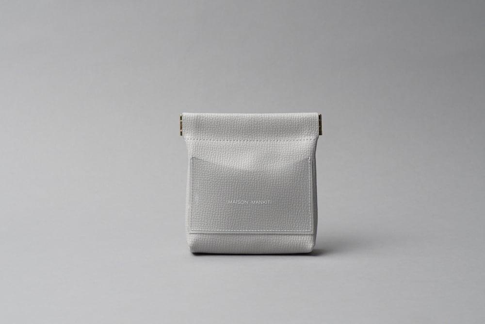 ワンタッチ・コインケース ■ライトグレー・クリア■ - 画像1