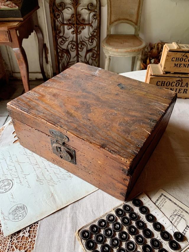 木製 道具箱 木箱 焦げ茶