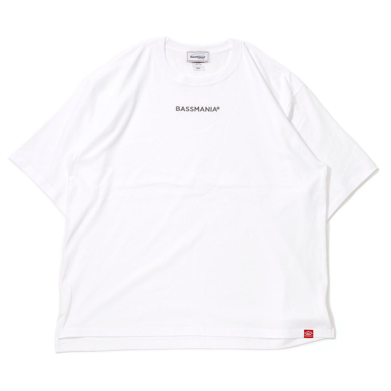 BASSMANIAロゴ刺繍ルーズシルエットTシャツ[WHT]