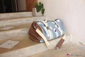 FEDE Blue Brushed Duffle Bag
