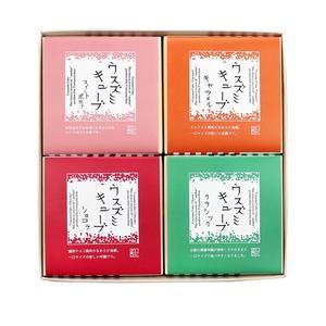 ウスズミキューブ 4箱 セット (クラシック×1/ショコラ×1/キャラメル×1/季節限定スイートポテト×1)