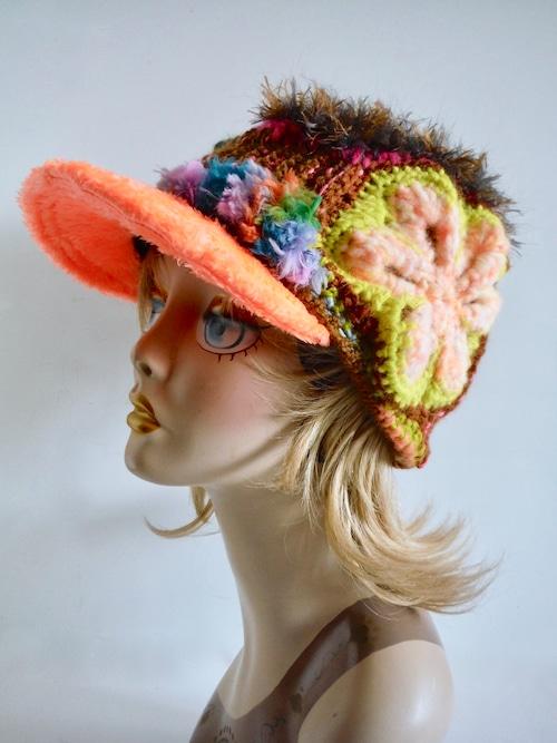 創作帽子 キャスケット <M56.5cm〜58cm>