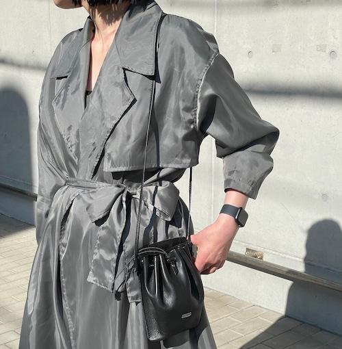 【ethical hippi】big trench coat (silver-gray) / 【エシカル ヒッピ】ビッグトレンチコート(シルバーグレー)
