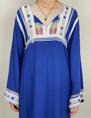 刺繍カフタンワンピース