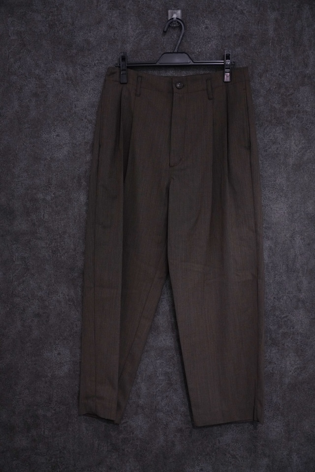 VOAAOV Clear Twill Wide Pants   brown