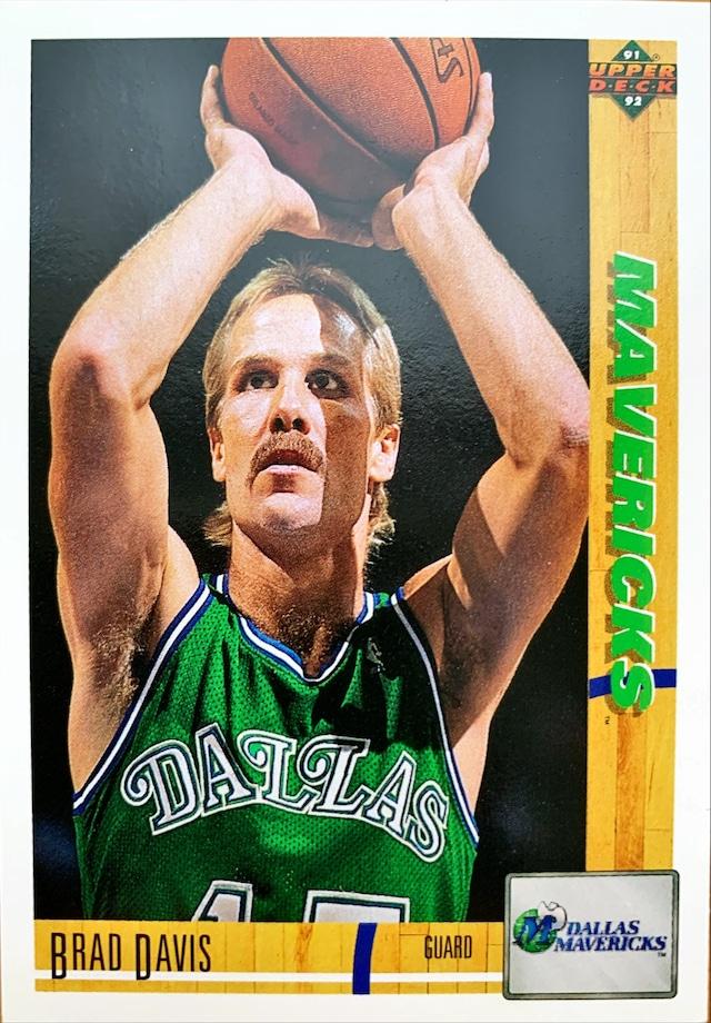 NBAカード 91-92UPPERDECK Brad Davis #229 MAVERICKS