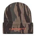 Carhartt (カーハート)SCRIPT BEANIE - Camo Unite / Copperton スクリプトビーニー