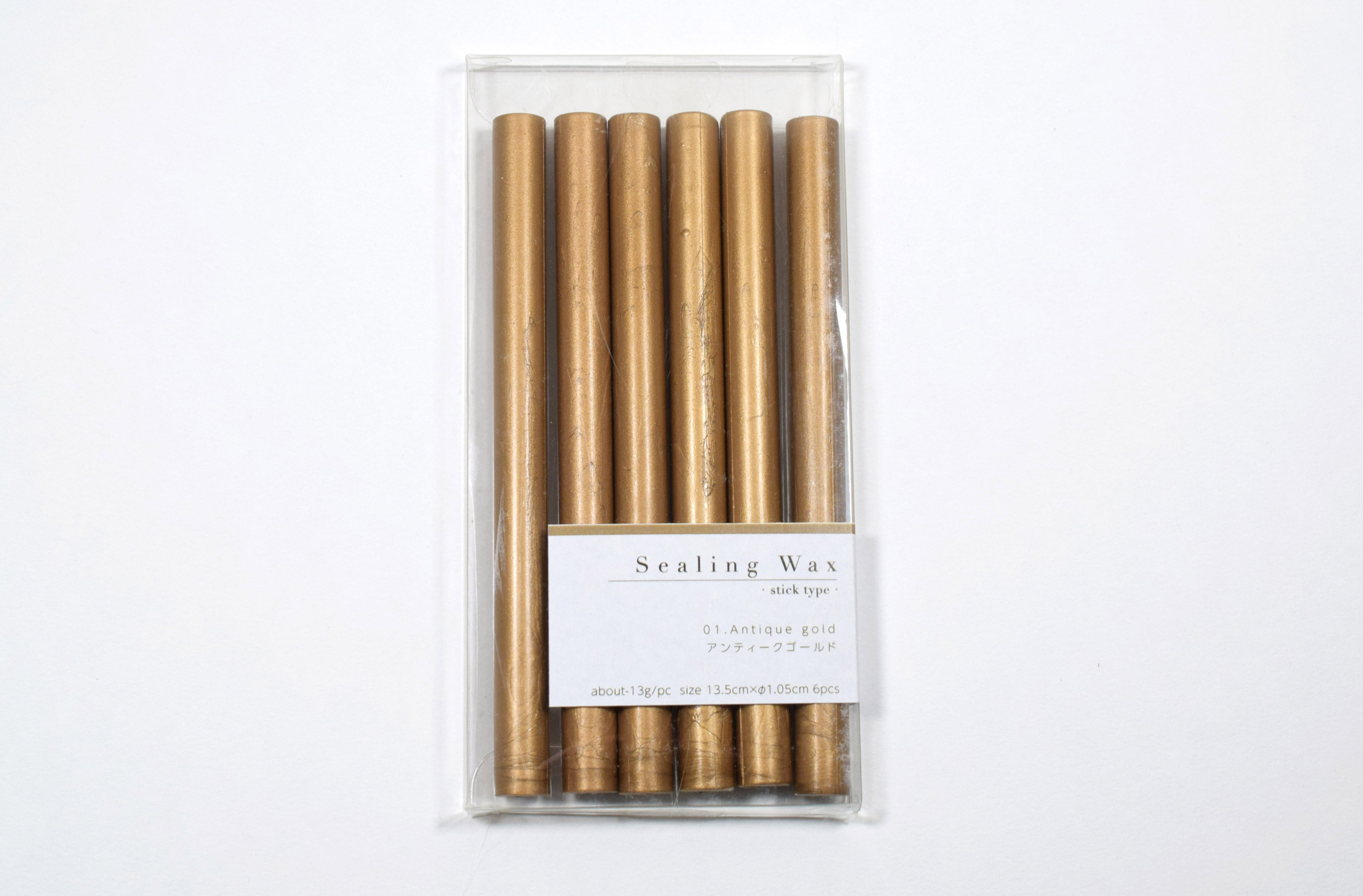 Sealing Wax stick 01.Antique gold シーリングワックス グルーガン用 アンティークゴールド