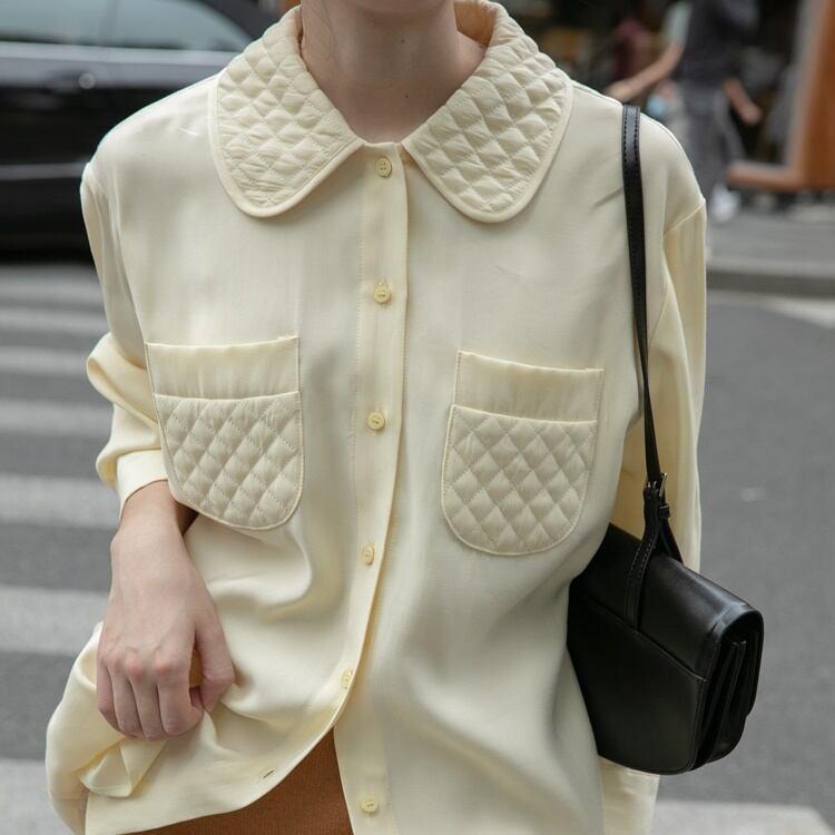 Quilting lapel shirt(キルティングラペルシャツ)a-826
