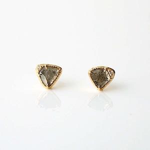 Sliced Diamond Pierced Earring / Pair(E268-YD)