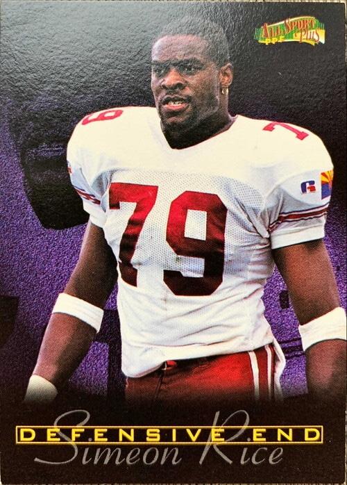 NFLカード 97SCORE SIMEON RICE #192 ARIZONA