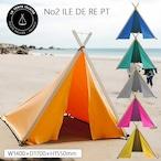 LA TENTE ISLAISE(ラタントイレーズ) No2 ILE DE RE (イル・ド・レ) PT テント簡単 全6色 ビーチ サンシェード 日よけ アウトドア 用品 キャンプ グッズ