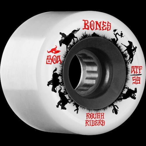BONES WHEEL / ROUGH RIDER / WRANGLERS / wht / 59mm / 80a