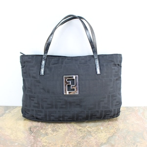 FENDI ZUCCA PATTERNED LOGO HAND BAG MADE IN ITALY/フェンディズッカ柄ロゴハンドバッグ
