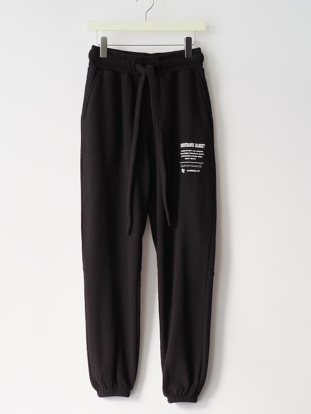 【SUPERTHANKS】ONE POINT COLLEGE LOGO PRINT SWEAT PANTS