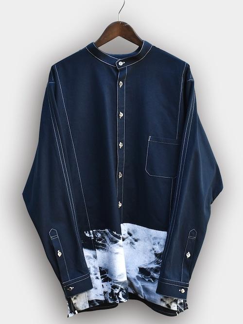 Printed Dolman sleeve SH (WHITE) / プリンテッド ドルマンスリーブシャツ