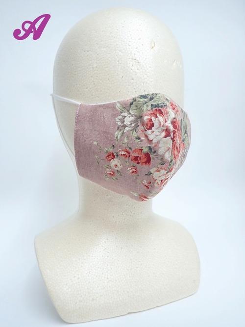 冷感 夏用 クラシカル立体布マスク ピンク