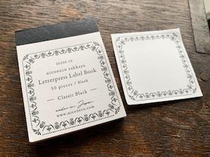 【活版印刷】Label book Vol.2(Classic Black)niconecoコラボ