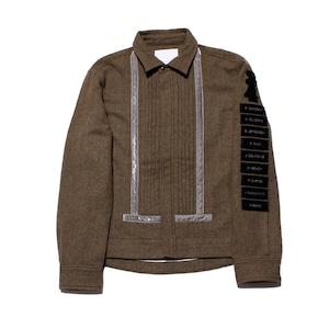 Harris Elliott x Enharmonic TAVERN Jazz Suit Wool Worsted Felting Finish -brown <LSD-AH3B4-A>