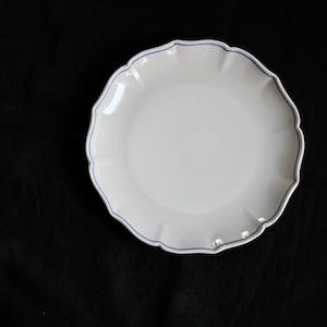 【31017】九谷の白 輪花 平皿 LL / Kutani White Rinka Plate  LL / Showa Era