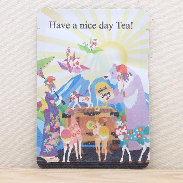 Have a nice day Tea!|ホラグチカヨさんのイラストと和紅茶のコラボ|ごあいさつ茶