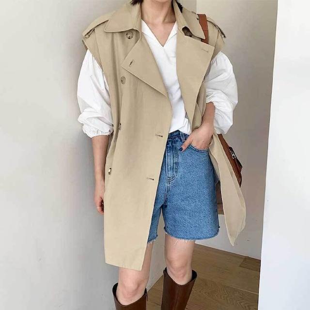 トレンチジレ | ベスト トレンチコート 秋服 韓国服