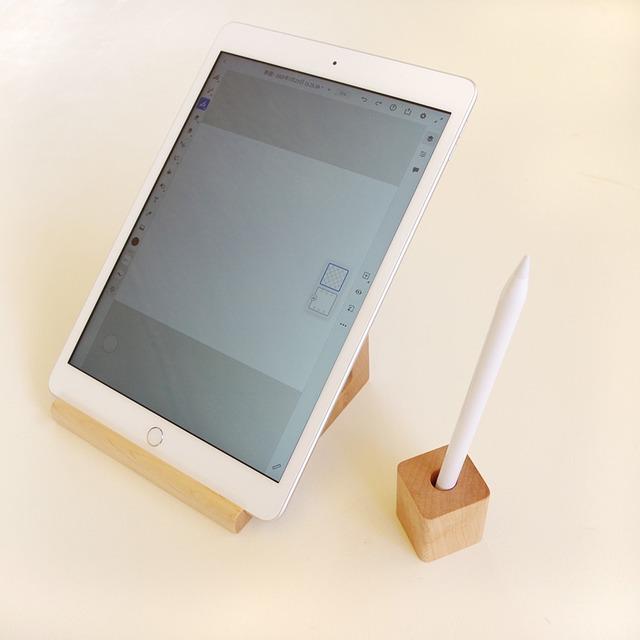 シンプルな木製ペンスタンド/タッチペンにも