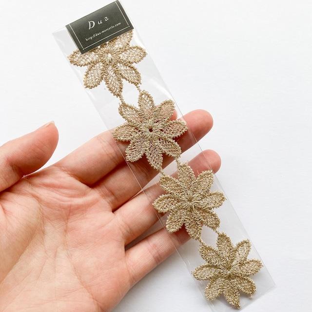 中心穴あきお花レースパック(4p)