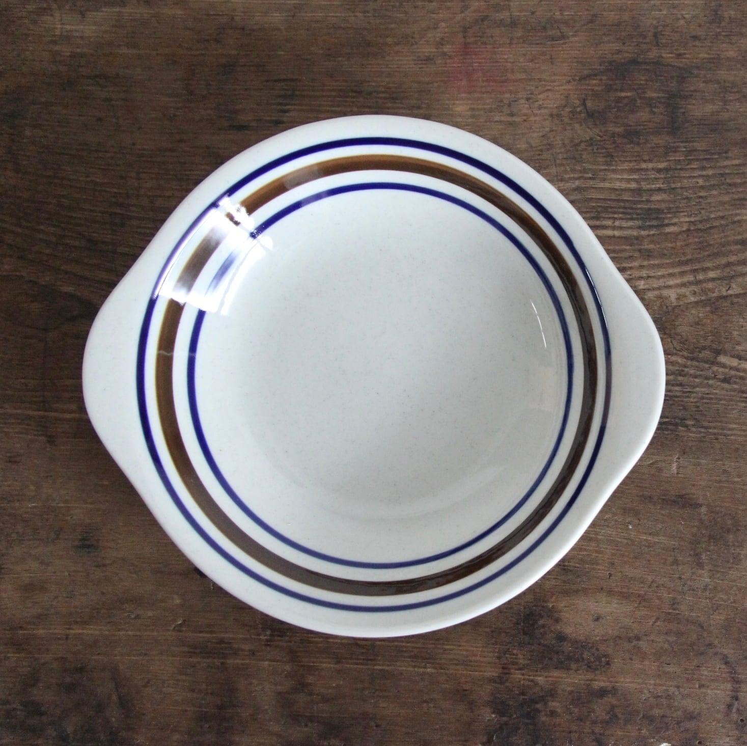 marumi ストライプ スープ皿 在庫1枚