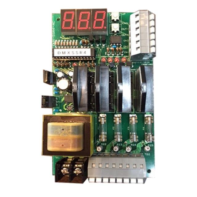 DMX対応 AC100v SSR 4ch基板