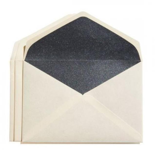 カドをとった二重封筒ダイヤ貼り・洋3(JIS洋1)・雁皮/藍(あい)・3枚組
